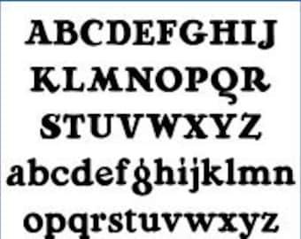 Alphabet Pattern - RaggMopp, 6 inch - Printable PDF File, Digital Download