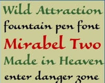 Printable Alphabet Pattern - Mirabel Two, 4 inch - PDF File, Digital Download