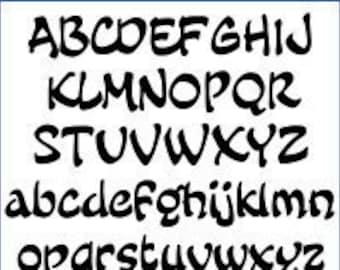 Alphabet Pattern - Fairy Tale, 2 inch - Printable PDF File, Digital Download
