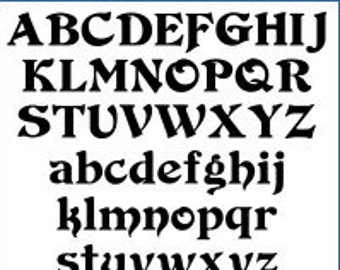 Alphabet Patterns - Duvall, Value Pak - Printable PDF File, Digital Download