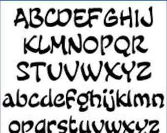 Alphabet Pattern - Fairy Tale, 5 inch - Printable PDF File, Digital Download