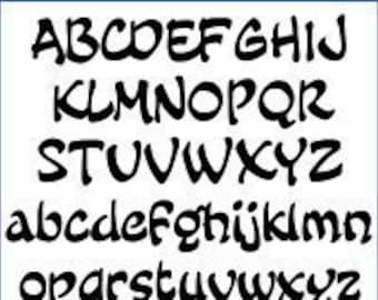 Alphabet Pattern - Fairy Tale, 4 inch - Printable PDF File, Digital Download