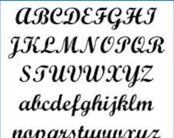Alphabet Pattern - Script, 5 inch - Printable PDF File, Digital Download