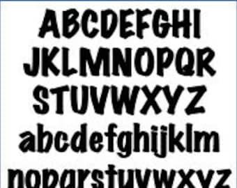 Alphabet Pattern - Marker, 3 inch - Printable PDF File, Digital Download