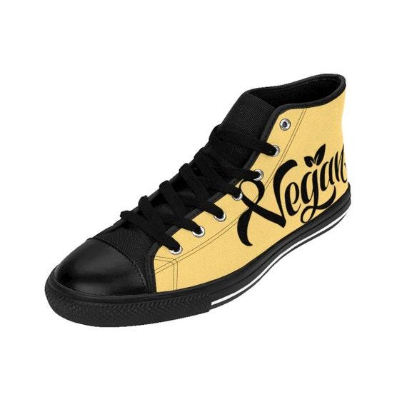 Shoes Gift for Vegan Shoes Sneakers Vegan Women Vegan Vegetarian Herbivore Womens Yellow Womens XqzvEE