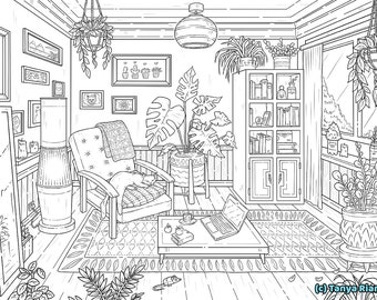 Adult Coloring Pages Printable Etsy