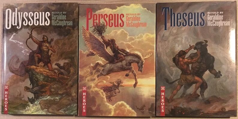 3 Greek Heroes Hardcover Novels Retold by Geraldine McCaughrean: Odysseus