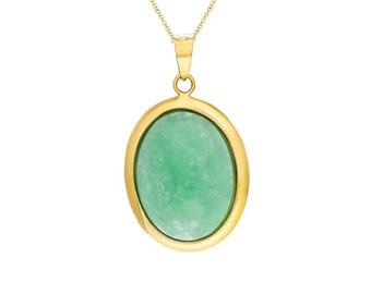 Jade Oval Pendant