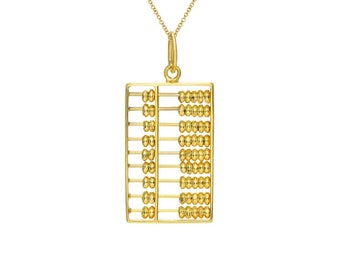Abacus in 14k Gold (Large)