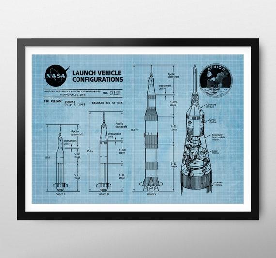 Apollo 11 Launch Saturn V Rocket American Flag 5x7 Photo Apollo 11 Mission NASA