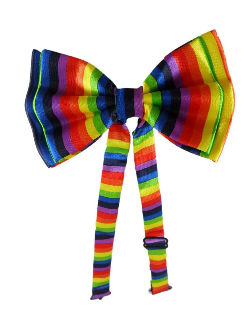 Rainbow Bowtie Satin Appearance
