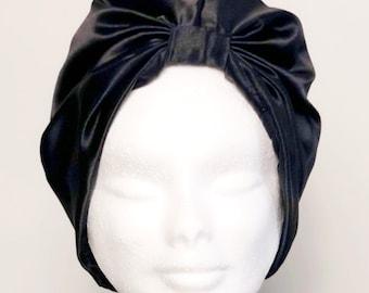 Navy silk turban | Etsy