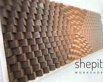 Kunstwerk Holz Wand