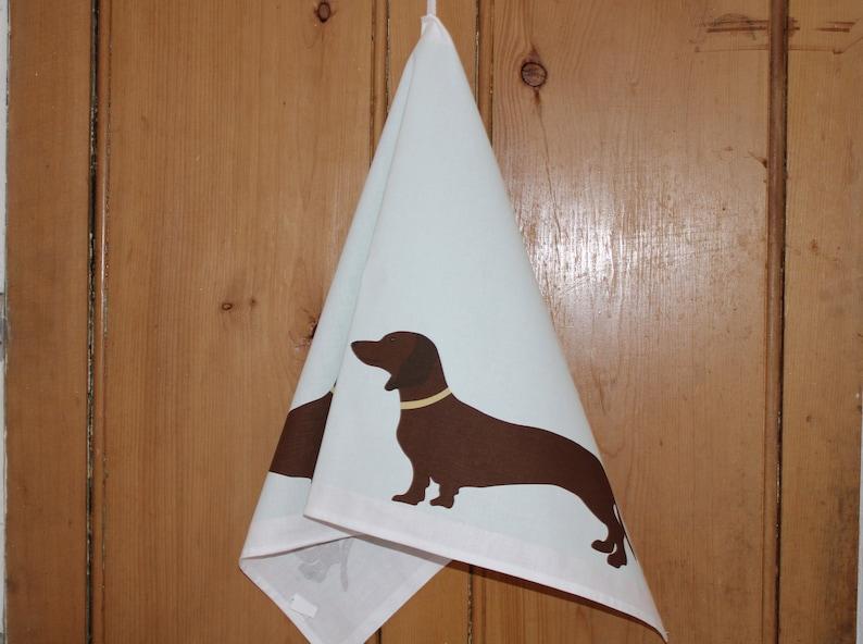 Dachshund Tea Towel Quality Cotton Gift for Sausage Dog Lovers