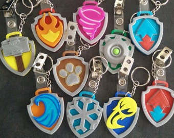 Paw Patrol Mighty Pups badges - set of 10