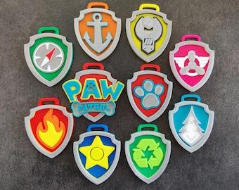 Paw Patrol badges - set of 10