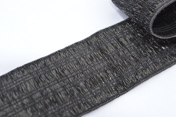 BLACK STRETCH ELASTIC FLAT sewing knitting crafts 5 METRE 25mm  dress making new
