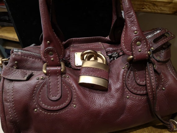Chloè burgundy leather bag