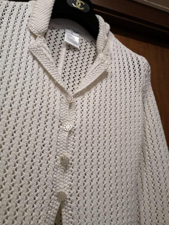 Chanel white crochet cardigan
