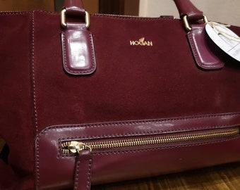 Hogan bag with burgundy handles