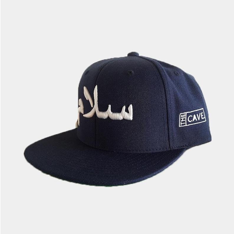 fffdda822491d Navy salam peace flat peak arabic cap