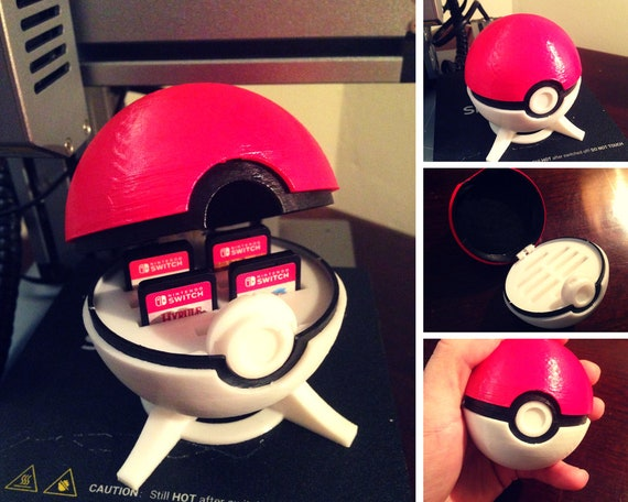 pokeball nintendo switch or ds game case | etsy