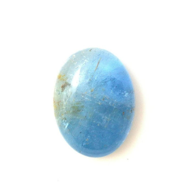 4 Lot Option Natural Santa Aquamarine Cabochon Oval Smooth Polish Loose Gemstone,Blue Gems,Ring,Pendant,Earring,Jewelry,Beads,Bi Color,