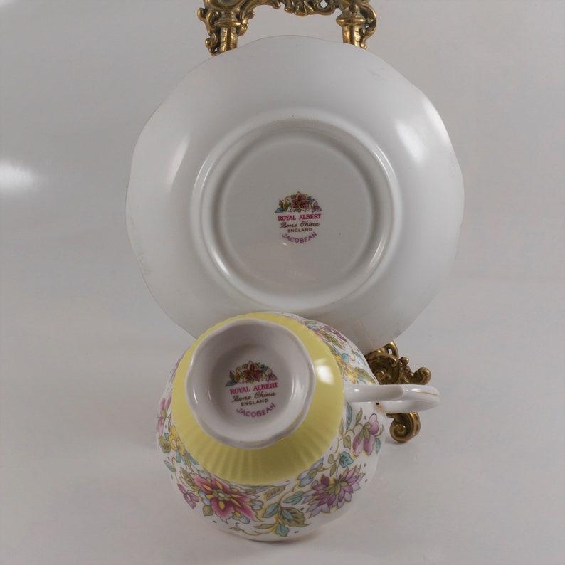 Royal Albert Yellow Jacobean Teacup
