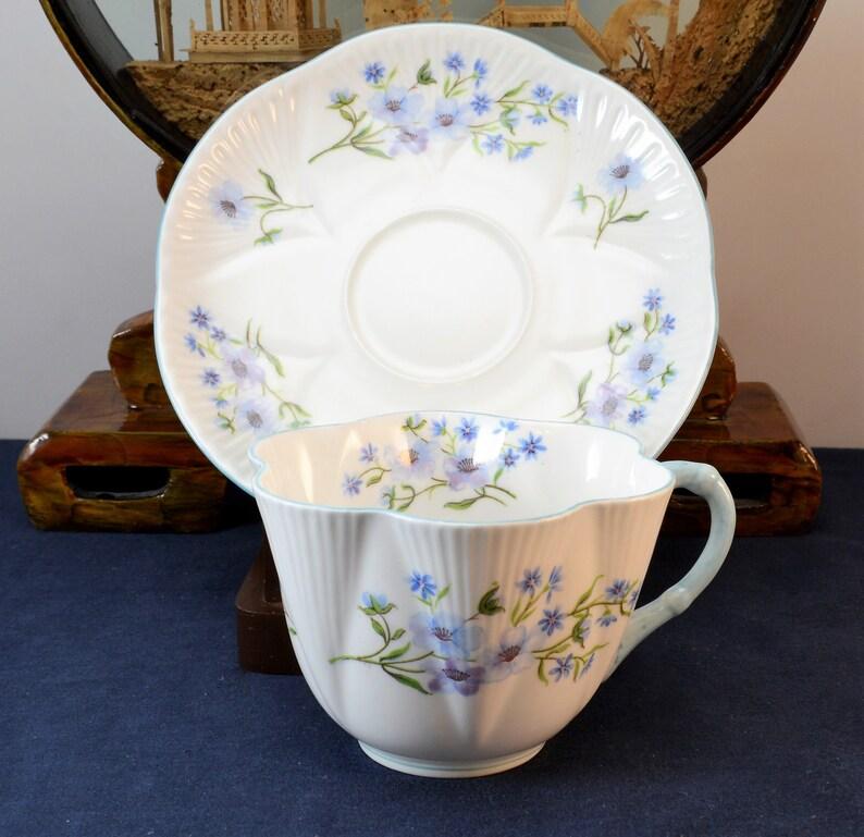 Shelley Blue Rock Teacup