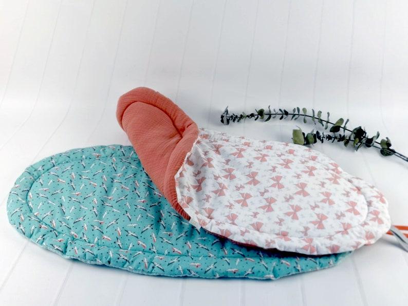gift for new  baby born. Topponcino Montessori birds in oeko tex cotton
