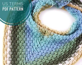 CROCHET PATTERN - The Wafer Scarf, US Terms, Easy Beginner, Crochet Scarf, 1 Skein Pattern
