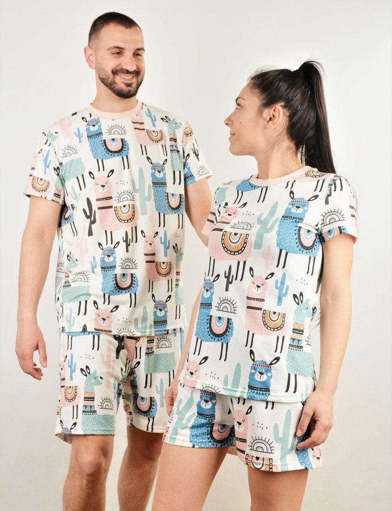 8. Llama Couple Pajamas