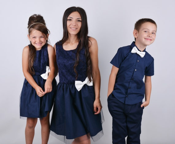 MIAOCOS Family Matching Outfits Mommy and Me Hamilton Dresses Water Blue Costume Victorian Dress Vintage Medieval Cosplay