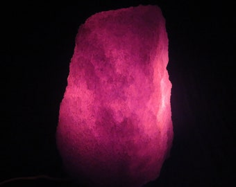 Blue Himalayan Salt Lamp TOP AA rare natural violet, unique lighting Christmas gift: table lamp, office desk lamp, home decor gift, magic