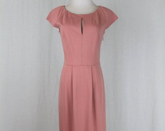 5035c4cb451 Vintage MOSCHINO Cheap and Chic Dusky Rose Rayon Blend Ponte Mid Calf  Sheath Dress 8 42