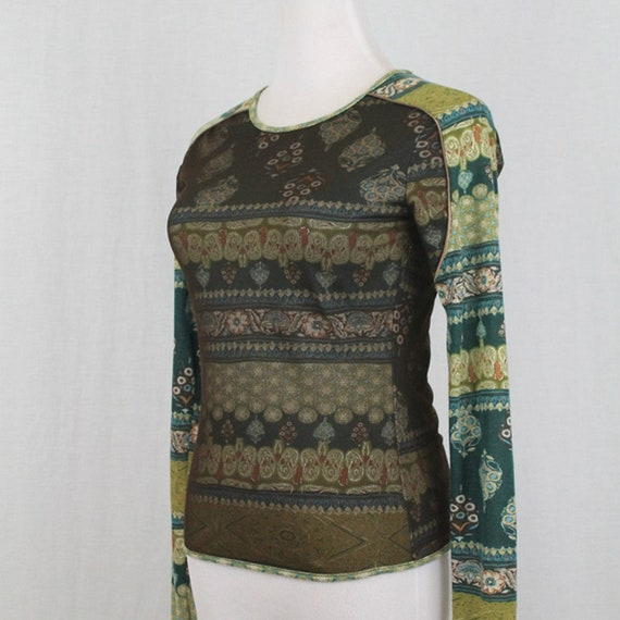 Vintage ANAC Layered Mesh Long Sleeve Top Small 1… - image 2