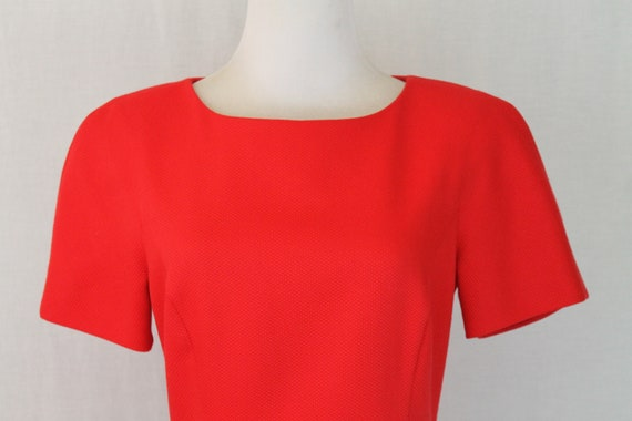 Vintage Arnold Scaasi Red Pique Pleated Fit and F… - image 7