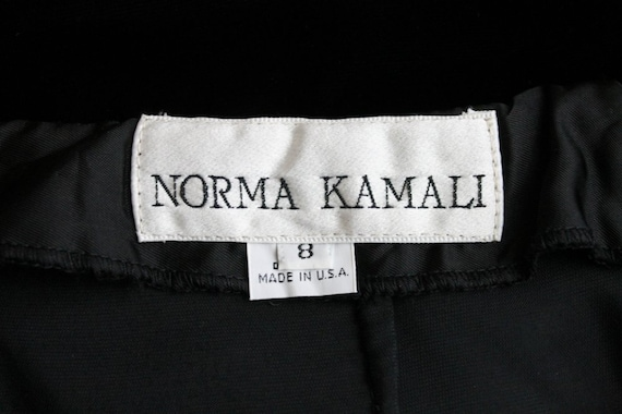 Vintage Norma Kamali Long Black Velvet High Waist… - image 5