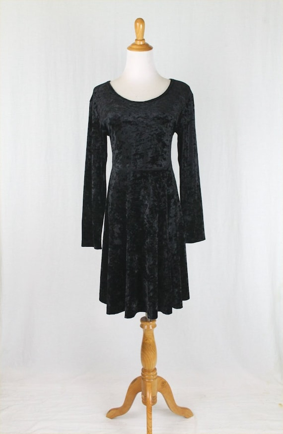 Vintage Express Tricot Gothic Black Crushed Stretc