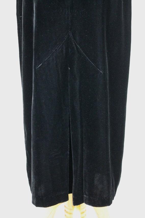 Vintage Norma Kamali Long Black Velvet High Waist… - image 3