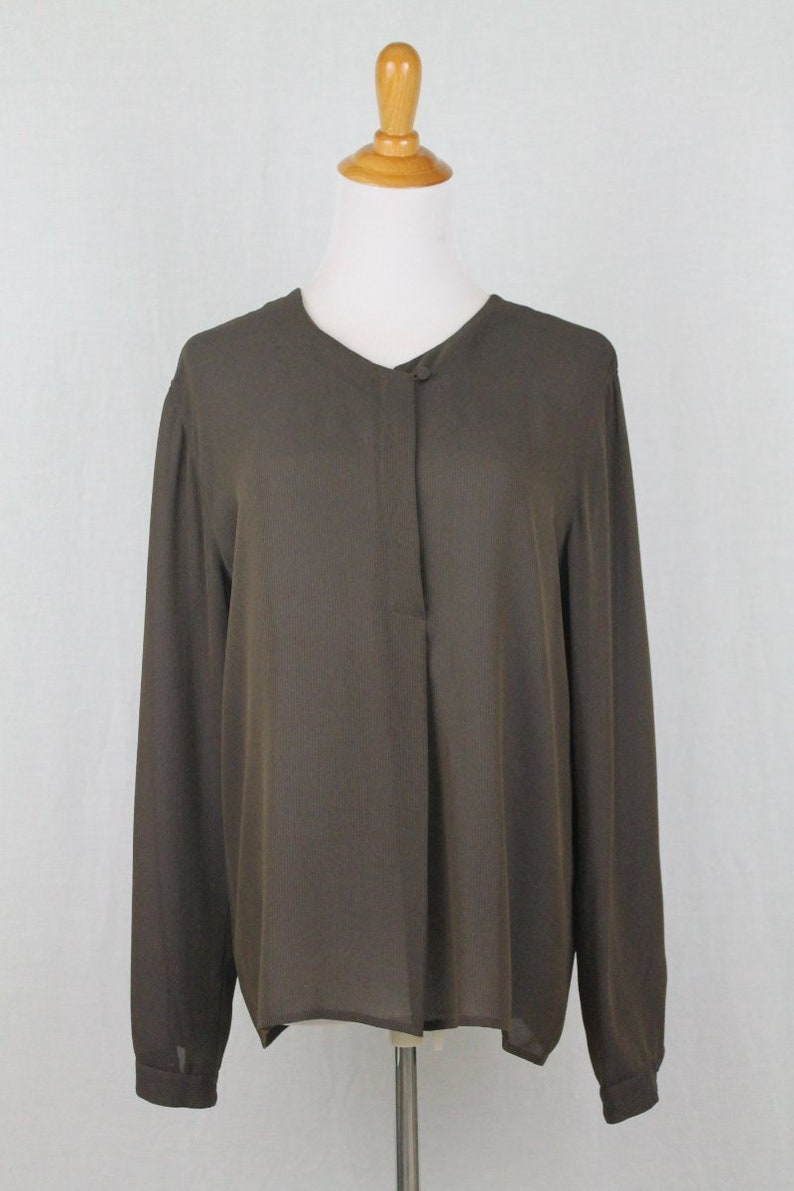 7bfca7a3b53c9 Vintage Calvin Klein Collection Minimalist Long sleeve Brown