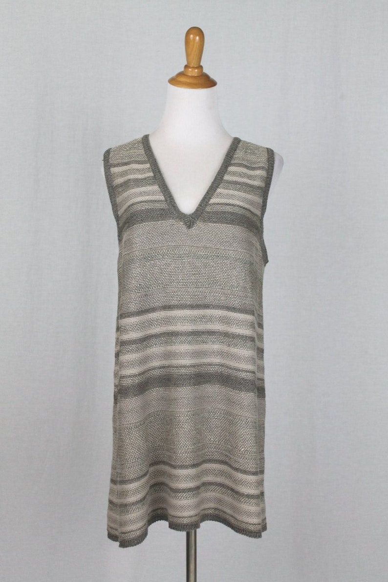 e2201cae69a78 Vintage DKNY Donna Karan New York Sleeveless Beige Linen Blend