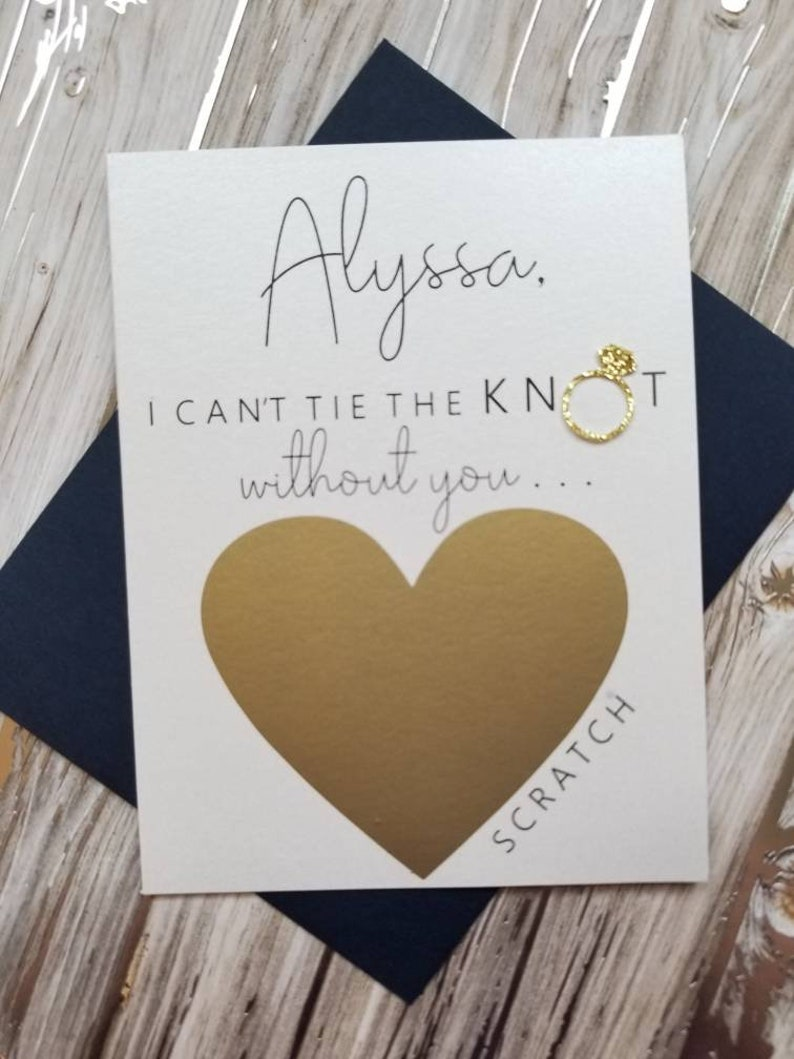 Will You Be My Bridesmaid Card Maid of Honor Proposal. Bridesmaid Proposal Card