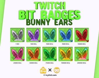 Twitch Bit Badges - Bunny Ears