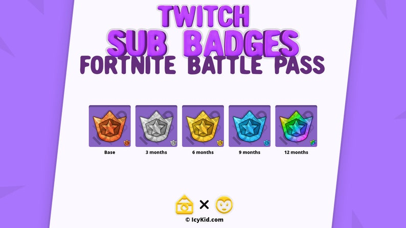 Twitch / Streaming Subscriber Badges  BattlePass image 0