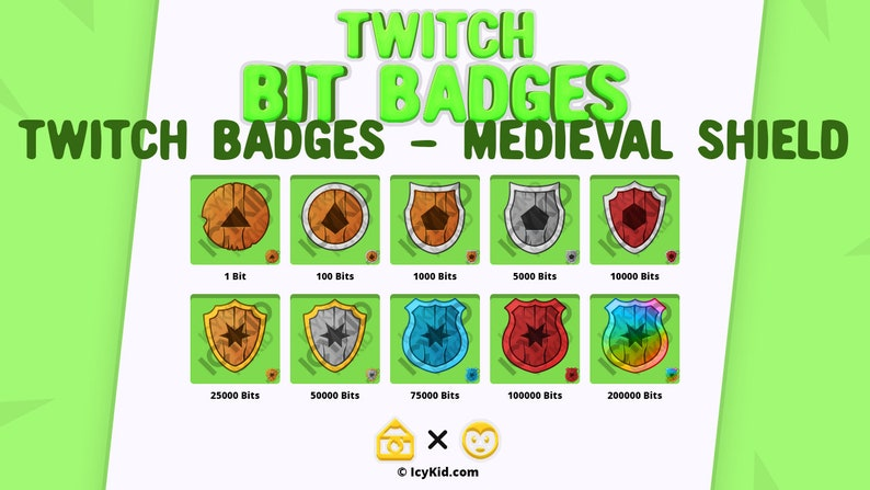 Twitch Bit Badges  Medieval Shield image 0
