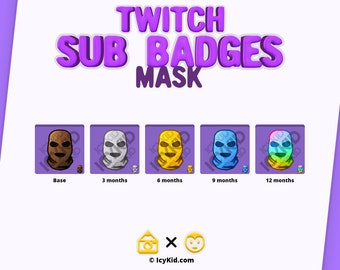 Twitch / Streaming Subscriber Badges - Mask