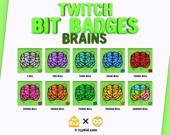 Twitch Bit Badges - Brains