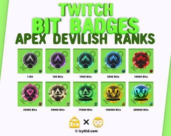 Twitch Bit Badges - Apex Devilish Ranks