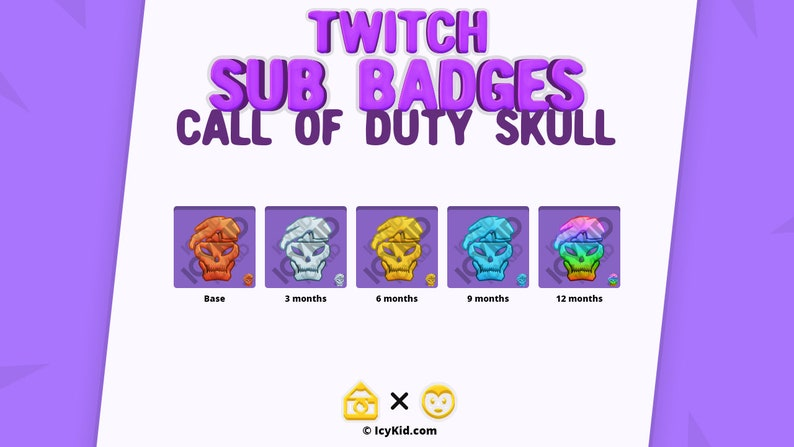 Twitch / Streaming Subscriber Badges  Call Of Duty Skull image 0